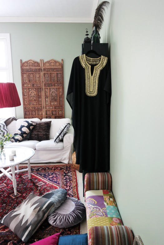 marockansk kaftan inredning, orientalisk tine k